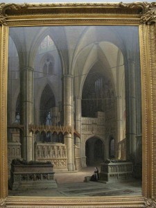 """Max Emanuel Ainmiller """"""""The Choir of westminster abbey"""" 1849"""
