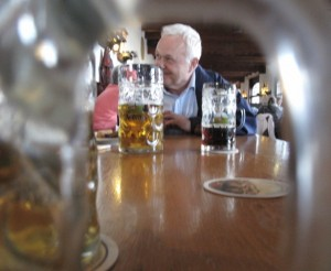Andechs Monastery hell beer and people